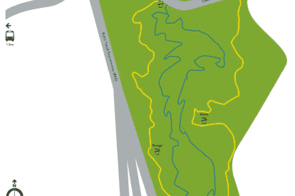 Chestnut Nature Park Southern Hiking Loop Map