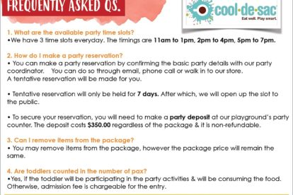 Cool de Sac - Party FAQs 1