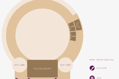 Function Rooms and The Coliseum Floor Plan Map