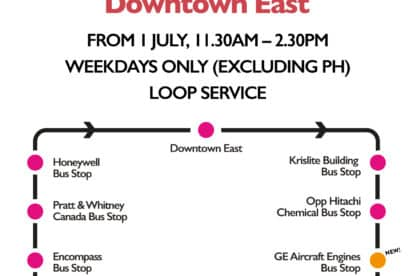 Loyang Industrial Area to Downtown East Shuttle
