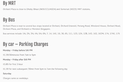 Orchard Plaza - Car Parking Rates & Getting There