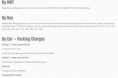 Queensway Shopping Centre Car Parking Rates