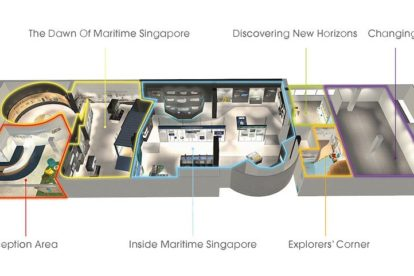 Singapore Maritime Gallery Map