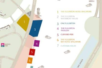 The Fullerton Waterboat House Map