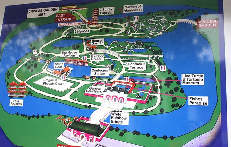 to get to the gardens catch the mrt and get off at chinese garden station then take a short 5 minute walk to the gardens