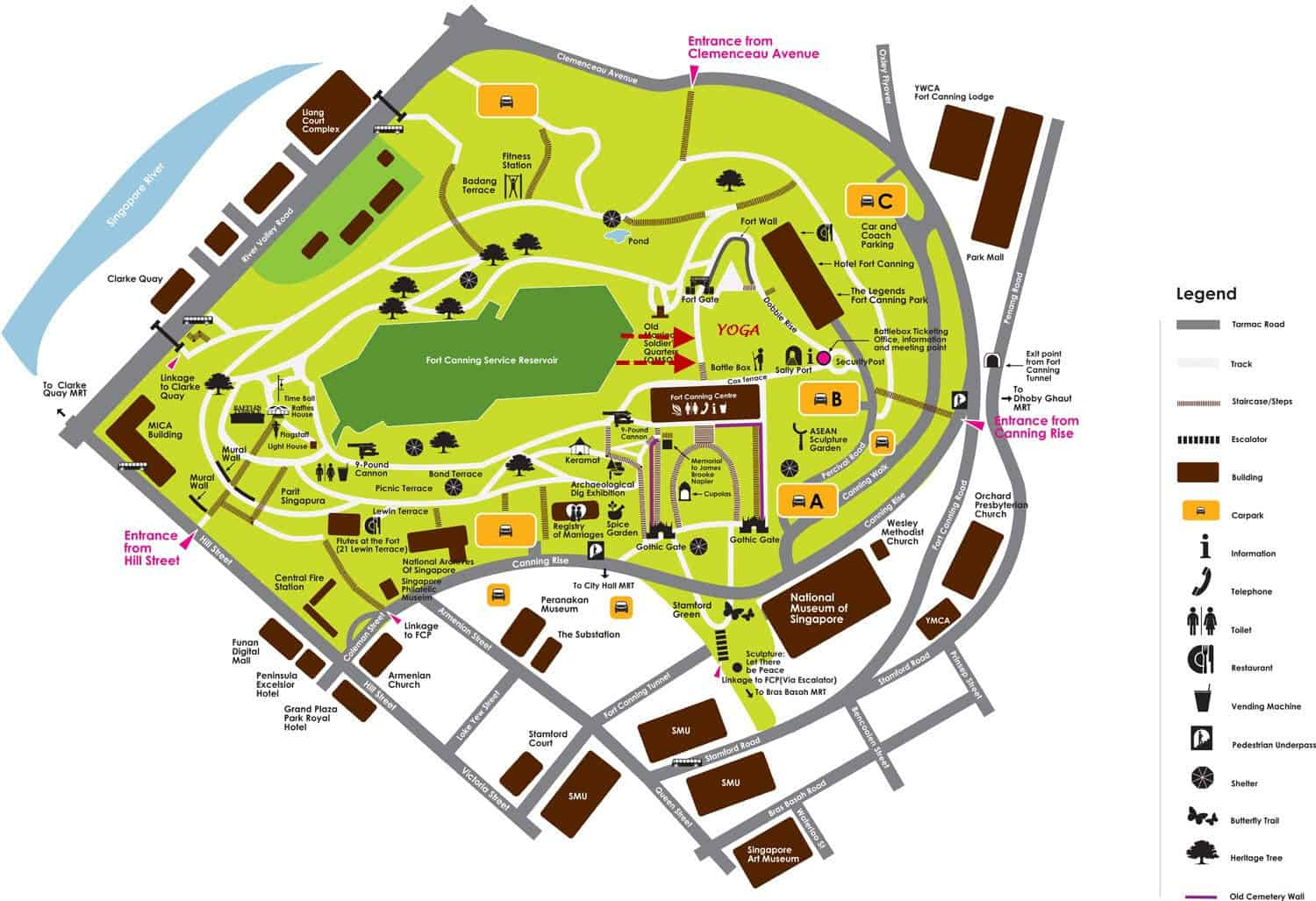 Fort Canning Park Singapore Weddings Concerts Events Amp Map