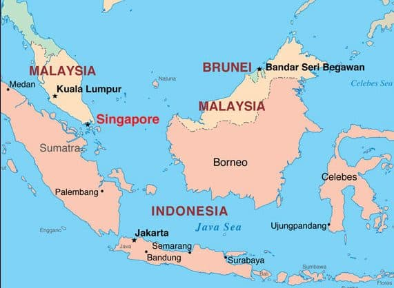 where is singapore located world map asia countries continent
