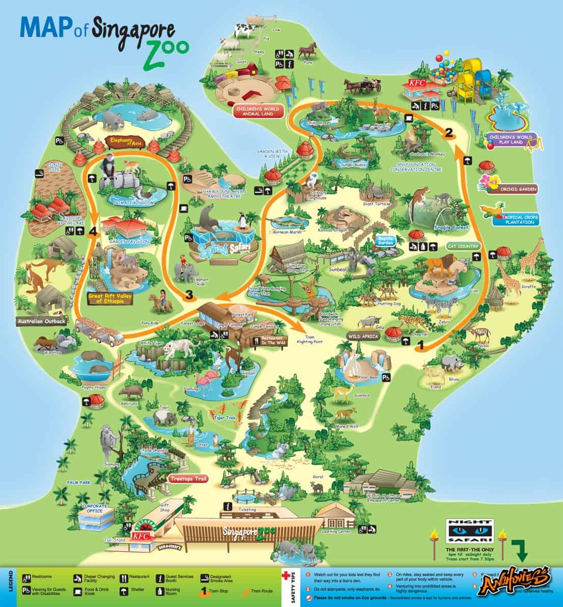 Singapore Zoo  Ticket Price Entrance Fee Opening Hours  Map