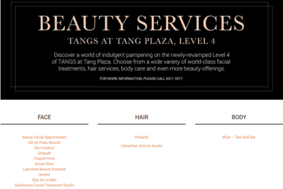 Tang Plaza Beauty Services