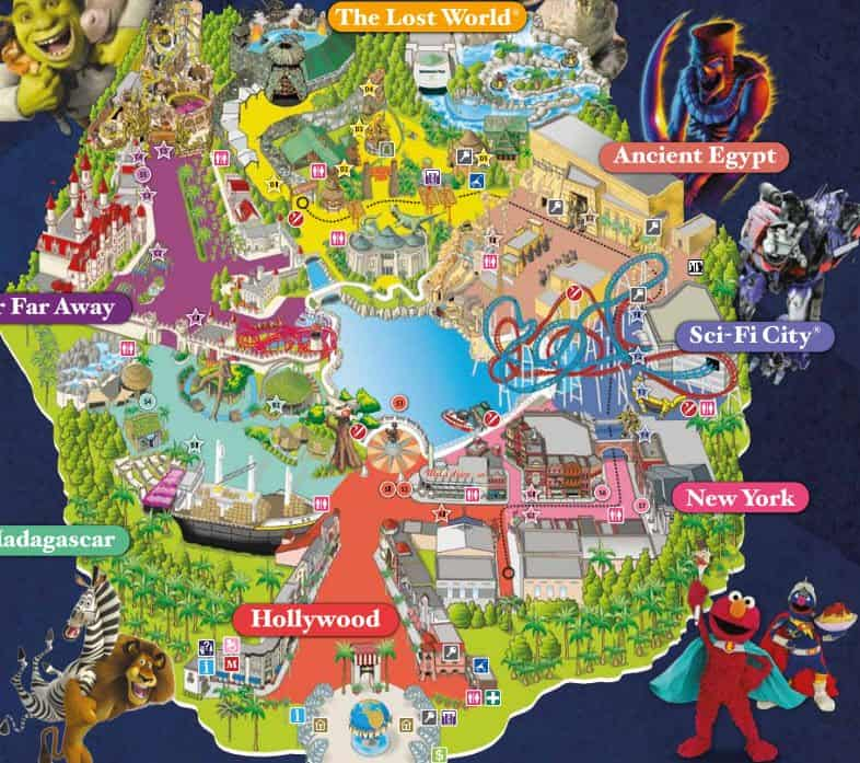 Image result for universal studios map singapore